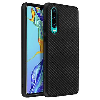 Rhinoshield Case Huawei P30 Shockproof Fine SolidSuit Carbon Series Black