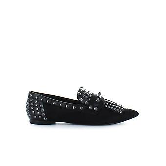 ASH BLACK MOLOKO MOCCASIN WITH STUDS