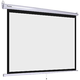 """Instahibit 72"""" 4:3 Manual Pull Down Projection Screen 57"""" x 43"""" Home Theater Projector Movies Screen Matte White"""