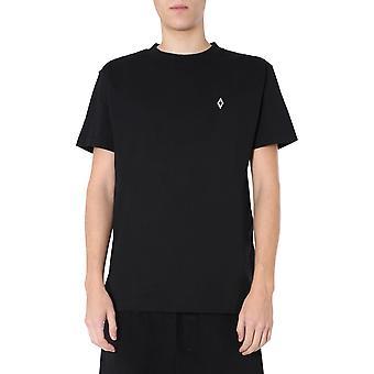 Marcelo Burlon Cmaa018s20jer0051025 Men's Black Cotton T-shirt