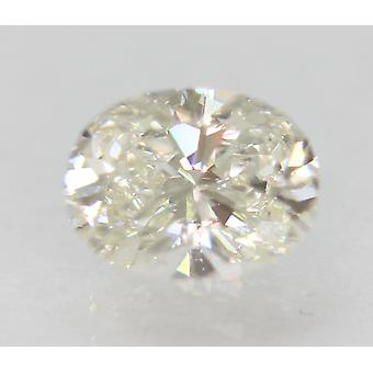 Certificado 0.58 quilates G Color VVS1 Oval Natural Diamante Suelto Para Anillo 6.03x4.67m
