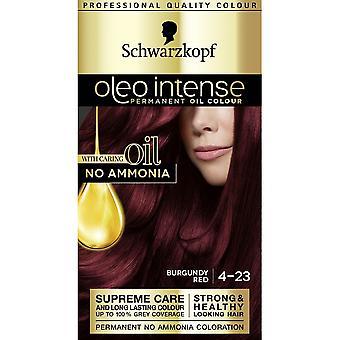 Schwarzkopf 3 X Schwarzkopf Oleo Intense Hair Colour - 4-23 Burgundy Red