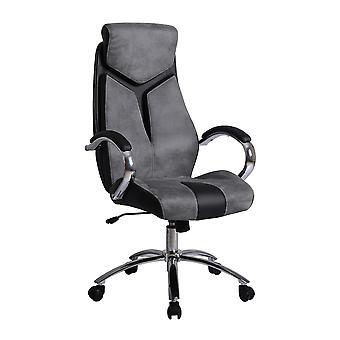 Ottawa Chair Color Black, Grey in PVC, PU, Metal 68x67x125 cm