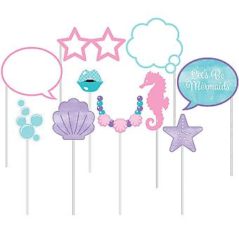 Mermaid Photo Booth Props Birthday Party x 10