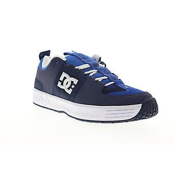 DC Lynx OG  Mens Blue Leather Lace Up Skate Sneakers Shoes