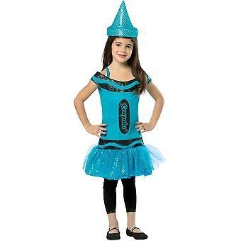 Crayola penna paljett blå barn kostym