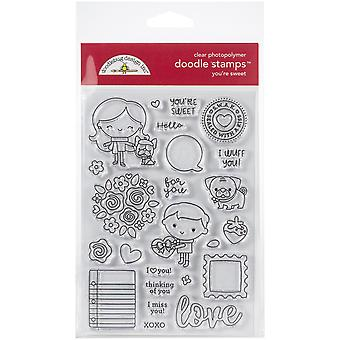 Doodlebug Clear Doodle Stamps-You're Sweet