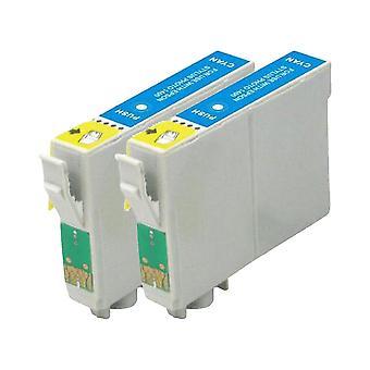 RudyTwos 2 倍交換のスタイラス写真 R220、R200、R300、R300M、R320、リヤに 325、R330、R340、R350、RX300、RX320、RX500、RX600、RX620、RX640 エプソン タツノオトシゴ インク ユニットと薄い水色の互換性