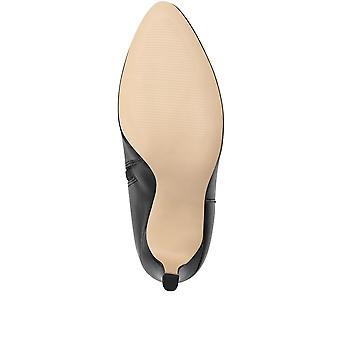 Jones Bootmaker Femmes Fausse Fourrure GarnisEd Leather Ankle Boot