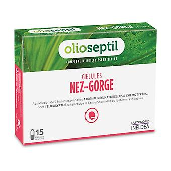 Olioseptil nose and throat 15 capsules