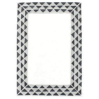 Something Different Triangle Pattern Monochrome Mirror
