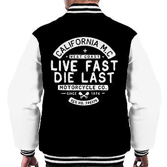 Teilen & erobern Live Fast Die Last Men's Varsity Jacke