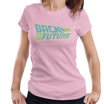 Back To The Future Retro Distressed Logo Women's T-Shirt