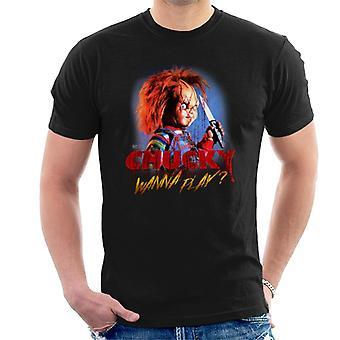 Chucky hi haluavat pelata miesten ' s T-paita