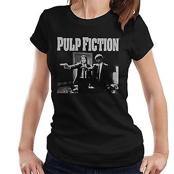 Pulp Fiction Vince And Jules Pointing Weapons Black And White Women's T-Shirt