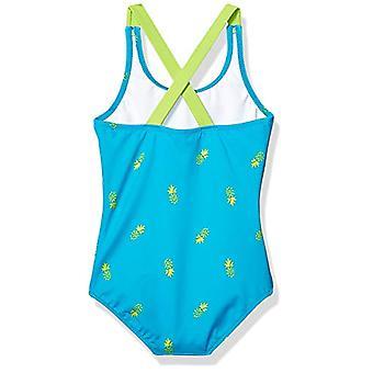 エッセンシャルズ幼児ガール&アポス;sワンピース水着、ブルーパイナップル、4T