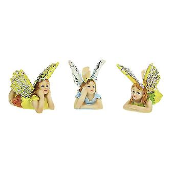 5.8cm Resin Daydreamer Fairy Ornament with Glitter Wings for Miniature Gardens