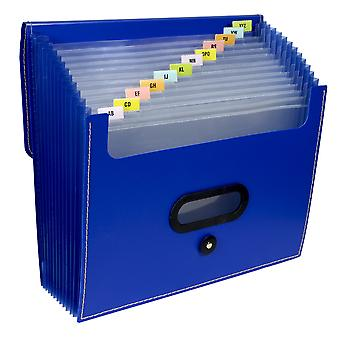 48015, 13-Pocket Ladder Expanding File, Letter Size, Blue, 1/EA, 48015