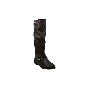 Xoxo Womens MINKLER Leather Closed Toe Knee High Fashion Boots