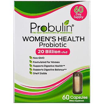 Probulin, Women's Health, Probiotic, 20 Billion CFU, 60 Capsules