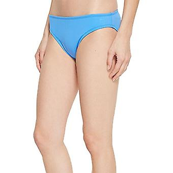 La Blanca Women's Island Goddess Solid Hipster Bikini Swimsuit Bottom, Blue S...