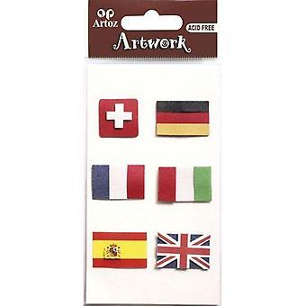 European Flags Craft Embellishment By Artoz