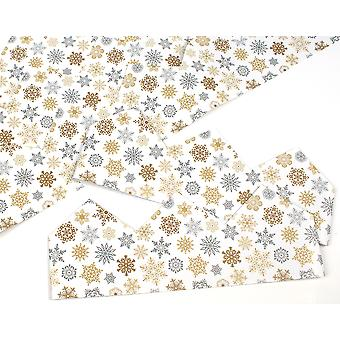 100 Gold & Silver Snowflakes Adjustable Filigree Paper Hats for DIY Cracker Making Crafts