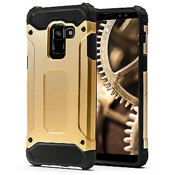 Shell for Samsung Galaxy A8 (2018) / A5 (2018) Gold Armor Protection Case Hard