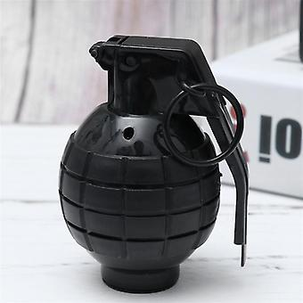 Grenade Props With Shining Light Trick Toys- Virtual Sound Effects Hand Grenade Props Military Model Supplies No Battery Black