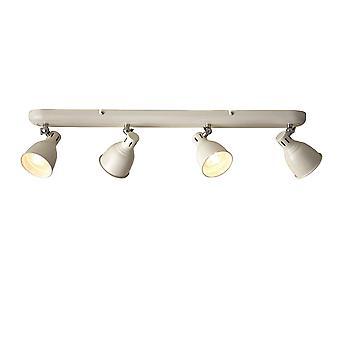 LED 4 Light Spotlight Gloss Ivory, Gloss White Paint, GU10
