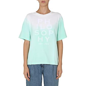 Filosofia Por Lorenzo Serafini 070571461371 Mulheres'camiseta de algodão verde