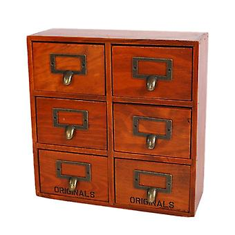 Multi Drawer Type Wooden Grocery Retro, Wood Cabinets, Wooden Storage Box With