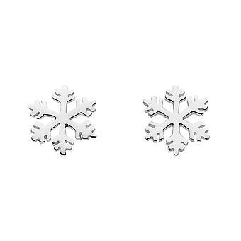 Dew Sterling Silver Snowflake Stud Earrings 4539HP020