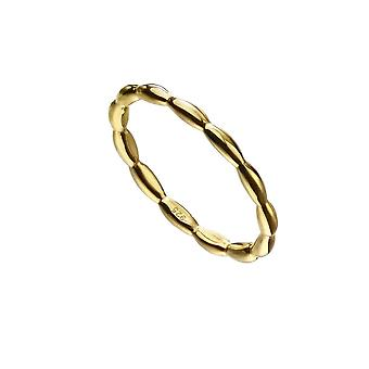 Beginnings Sterling Silver Gold Plated Oragnic Band Ring R3738
