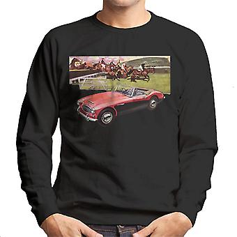 Austin Healey Sports Horses Jump British Motor Heritage Men's Sweatshirt