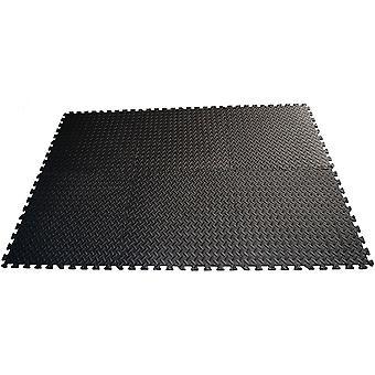 Puzzelmat voor fitnessapparatuur, set van 6 stuks. 60x60x1,2 cm Eb fit