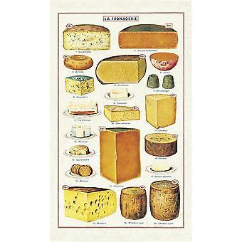 Cavallini Vintage La Fromagerie Käse Baumwolle Geschirrtuch