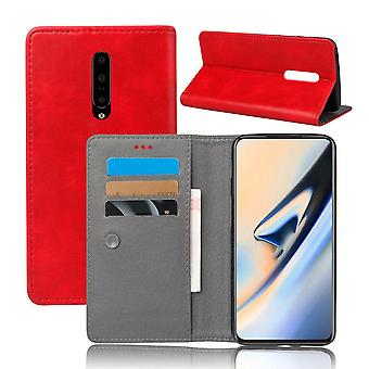 Anti-impact Wallet Case for OnePlus 5 Red kusiqi-218