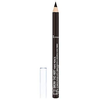Rimmel London Brow This Way Fibre Pencil - Dark 003