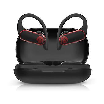 Langaton Blitzwolf Airaux -kuulokkeet, joissa on korvakoukkuurheilu - Kosketusohjaus - TWS Bluetooth 5.0 Langattomat silmut Kuulokkeet Kuulokkeet Kuuloke Musta