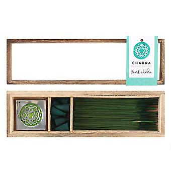 Something Different Heart Chakra Wooden Incense Gift Set