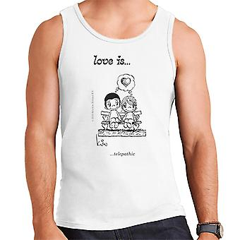 Love Is Telepathic Men's Vest