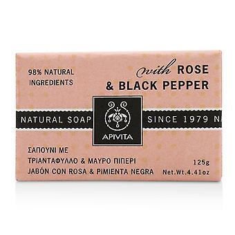 Sapone naturale con rosa e pepe nero 218746 125g/4.41oz
