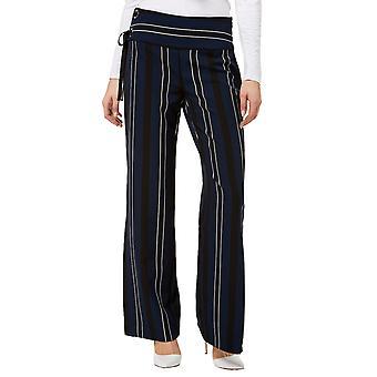 INC | Striped Lace-Up Slit Wide-Leg Pants
