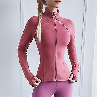 Tight Yoga Clothes, Women's Neck Zipper -sports Fitness Jacket
