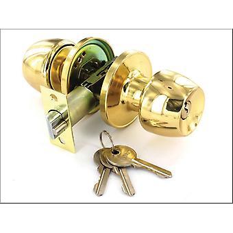 Securit Entrance Locks x 3 Keys Brass 60/70mm S2950