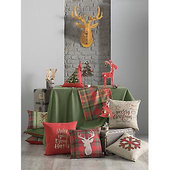 Hyvää joulua kiinteä vihreä - Koristeellinen pöytäliina