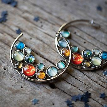 Solar System Hoop Earrings
