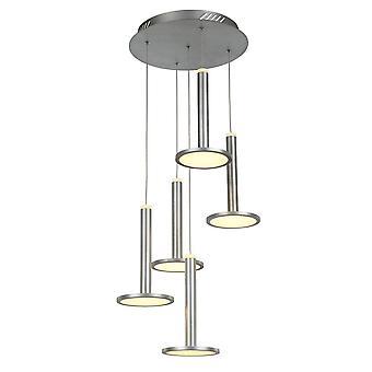 Italux Oliver - moderne LED hängen Anhänger Satin Nickel, warm weiß 3000K 3360lm dimmbar
