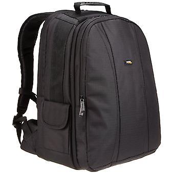 Amazonbasics dslr a batoh na notebook s šedým interiérem